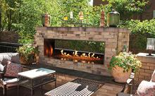 Empire WMH Outdoor Linear See-Through Fireplaces