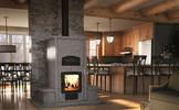 Valcourt FM1200 Mass Fireplace with Oven and Benches on Both Sides