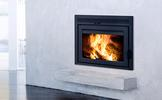 Supreme Galaxy Contemporary Zero-Clearance Wood Burining Fireplace