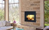 Supreme Duet 4 Seasons See-Through Wood Burining Fireplace